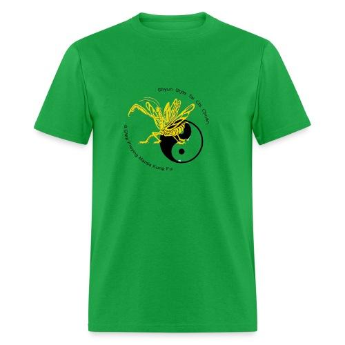 Yellow Yin Yang Mantis shirt - Men's T-Shirt