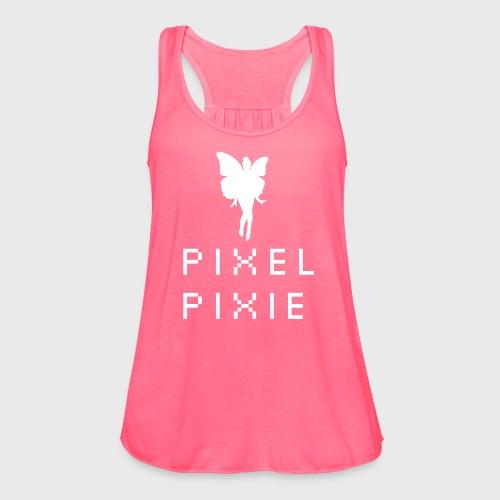 Pixel Pixie Geek Girl - Women's Flowy Tank Top by Bella