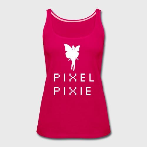 Pixel Pixie Geek Girl - Women's Premium Tank Top