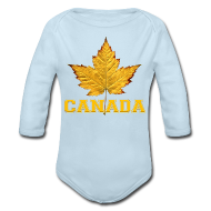 Baby Bodysuits ~ Baby Long Sleeve One Piece ~ Toddler Canada Creeper Canada Maple Leaf Baby Gift