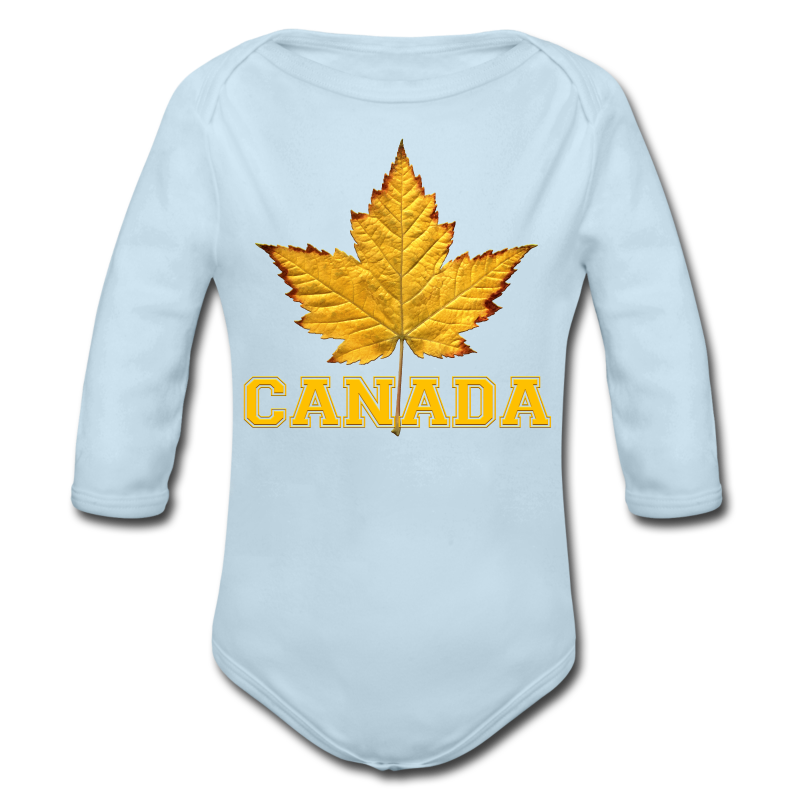 Toddler Canada Creeper Canada Maple Leaf Baby Gift - Long Sleeve Baby Bodysuit