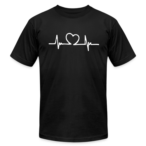 Heart Beat T-Shirt - Men's Fine Jersey T-Shirt