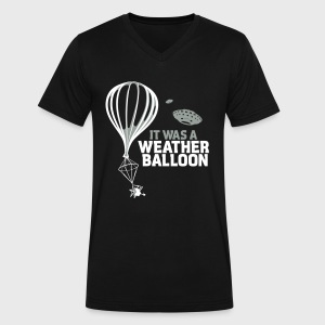 Weather Balloon UFO Aliens - Men's V-Neck T-Shirt by Canvas