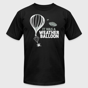 Weather Balloon UFO Aliens - Men's T-Shirt by American Apparel