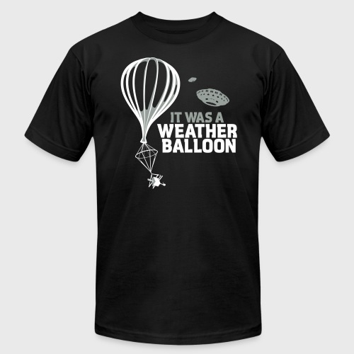 Weather Balloon UFO Aliens - Men's Fine Jersey T-Shirt