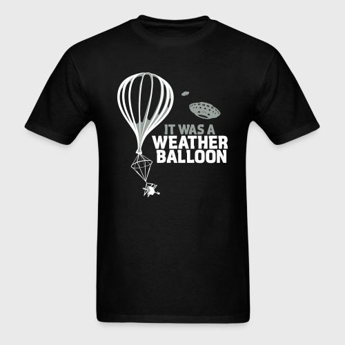 Weather Balloon UFO Aliens - Men's T-Shirt