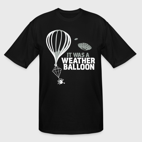 Weather Balloon UFO Aliens - Men's Tall T-Shirt