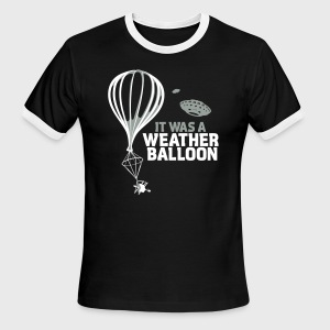Weather Balloon UFO Aliens - Men's Ringer T-Shirt