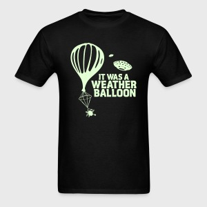 Weather Balloon GLOW UFO Aliens X-Files - Men's T-Shirt