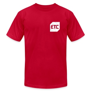 ETC Pocket Logo - Mens  - Men's T-Shirt by American Apparel