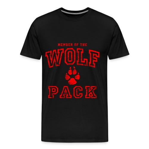 Member of Wolf Pack Tshirt (Black) - Men's Premium T-Shirt