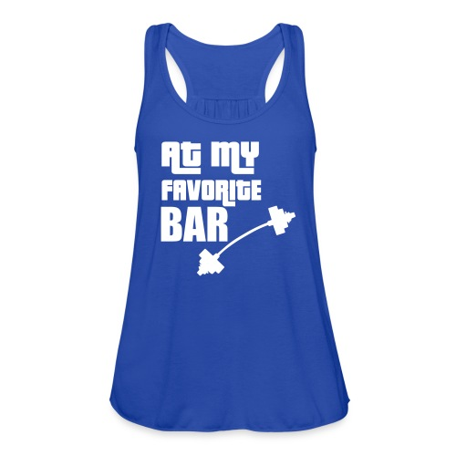 At My Favorite Bar Racerback Tank - Women's Flowy Tank Top by Bella