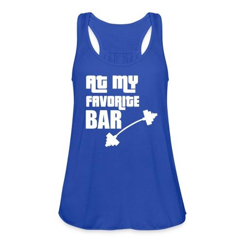 At My Favorite Bar Racerback Tank - Women's Flowy Tank Top by Bella