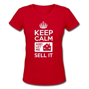 Keep Calm Sell It V-Neck - Women's V-Neck T-Shirt