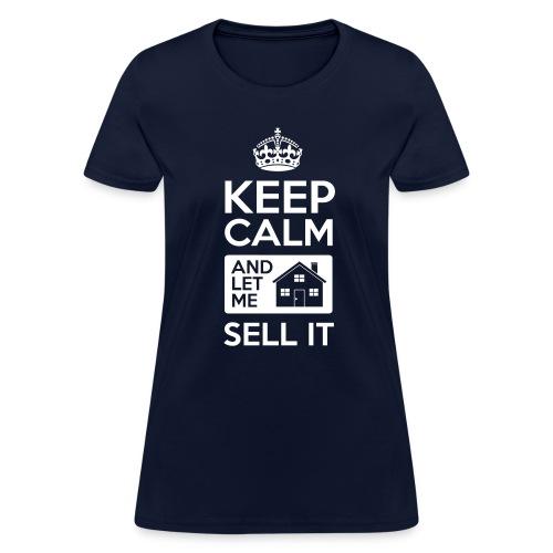 Keep Calm Sell It Slim Fit - Women's T-Shirt