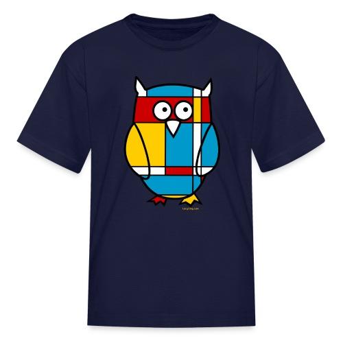 Mondrian Owl Kids T-Shirt - Kids' T-Shirt