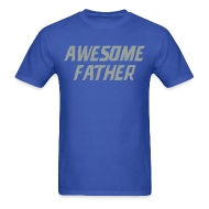 T-Shirts ~ Men's T-Shirt ~ Awesome Father (Lions)