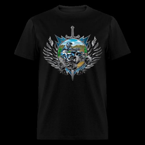 Freestyle ATV Heraldic Blue - Men's T-Shirt