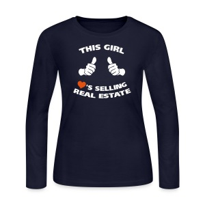 This Girl Loves RE Jersey - Women's Long Sleeve Jersey T-Shirt