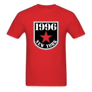 Red 1996 NY Men's T-shirt - Men's T-Shirt
