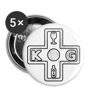 KG Light Logo Buttons - Small Buttons