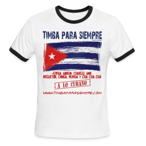 TimbaParaSiempre Ringer White/Red - Men's Ringer T-Shirt