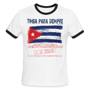 TimbaParaSiempre Ringer Red/White - Men's Ringer T-Shirt