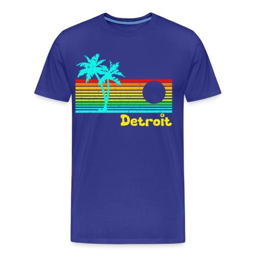 Funny Tropical Detroit - Men's Premium T-Shirt