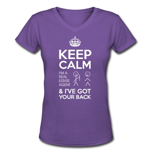 Keep Calm Got Back V-Neck - Women's V-Neck T-Shirt