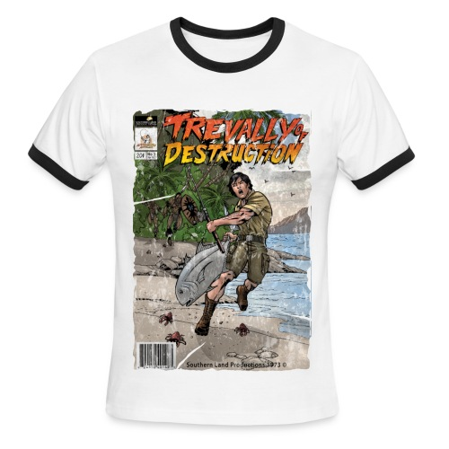 Trevally of Destruction T-Shirt (Vintage) - Men's Ringer T-Shirt