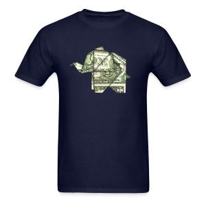Dollar Elephant Origami Animal Money T Shirts Men 39 S T