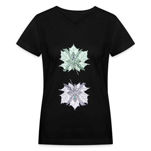 Leafmen V-Neck - Women's V-Neck T-Shirt