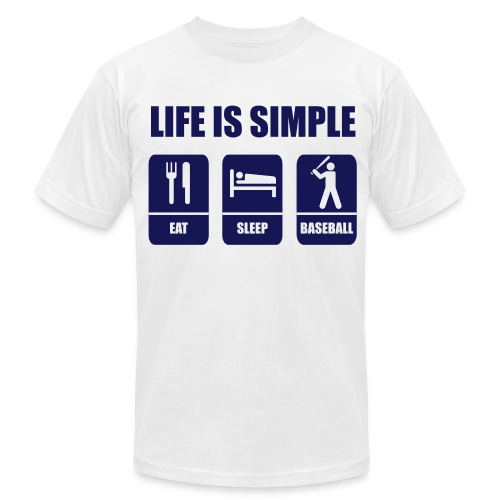 Life Is Simple  - Men's Fine Jersey T-Shirt