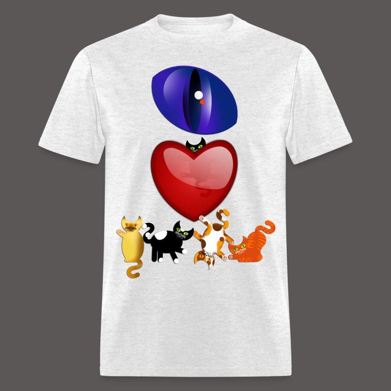 EYE LOVE CATS - Men's T-Shirt