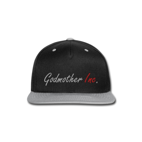 Godmother Inc. Snapback - Black/Silver - Snap-back Baseball Cap