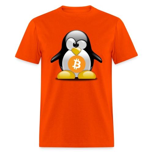 Tux Bitcoin - Men's T-Shirt