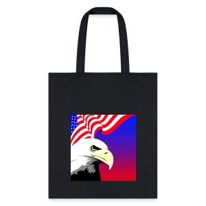 Eagle with Flag - Tote Bag