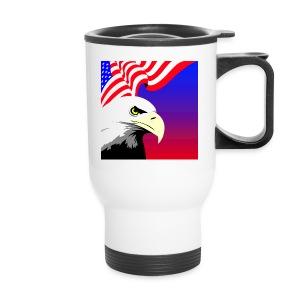 Eagle with Flag - Travel Mug