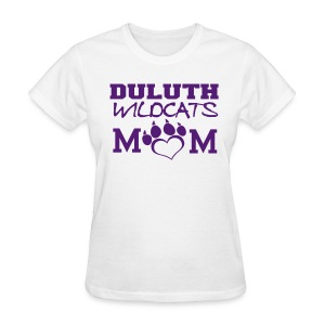 Glitter Duluth Wildcats Mom white - Women's T-Shirt
