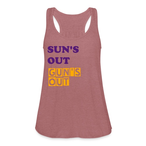 Sun's Out Gun's Out TANK - Women's Flowy Tank Top by Bella