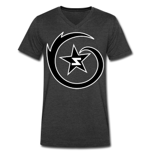 SWIRL Outline Logo V-Neck - Men's V-Neck T-Shirt by Canvas