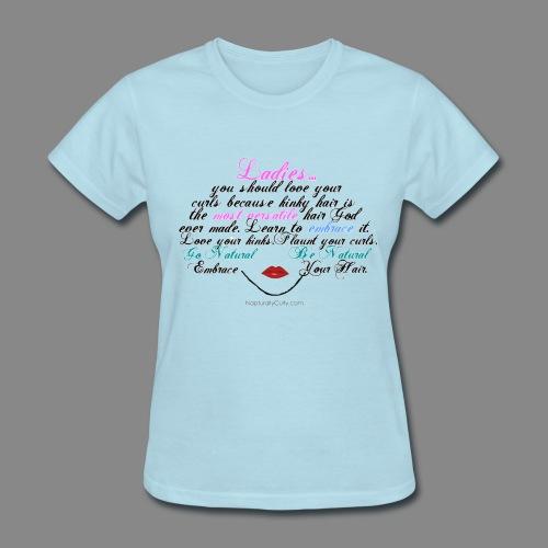 Afro Text - Women's T-Shirt
