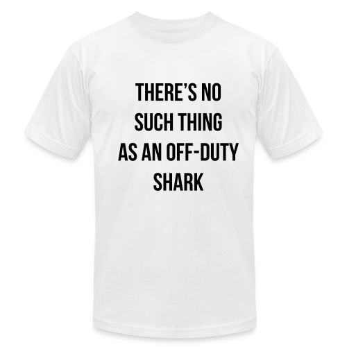 Off-Duty Shark - Men's T-Shirt by American Apparel