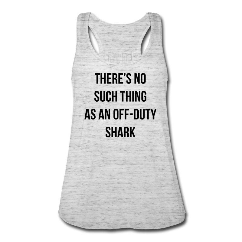 Off-Duty Shark - Women's Flowy Tank Top by Bella
