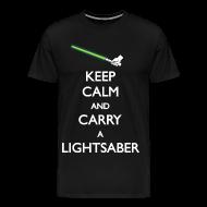 T-Shirts ~ Men's Premium T-Shirt ~ Keep calm and carry a lightsaber