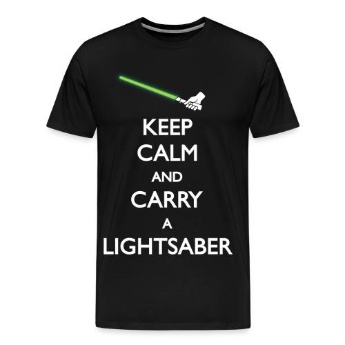 Keep calm and carry a lightsaber - Men's Premium T-Shirt
