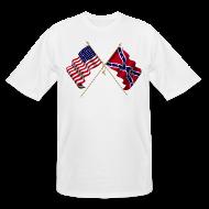 T-Shirts ~ Men's Tall T-Shirt ~ Civil war flags