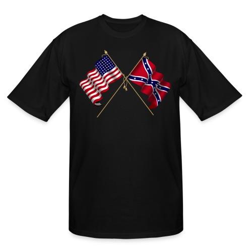 Civil war flags - Men's Tall T-Shirt