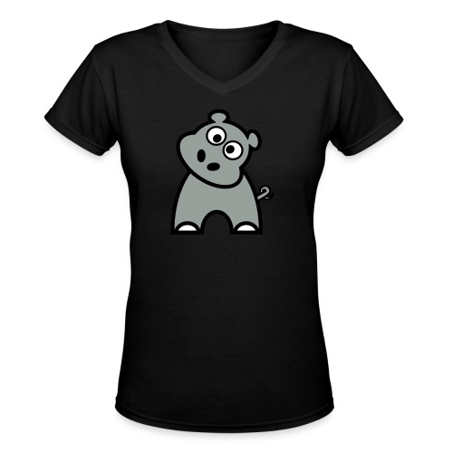 Team Matilda T-shirt - A Hippopotamus for Christmas  - Women's V-Neck T-Shirt