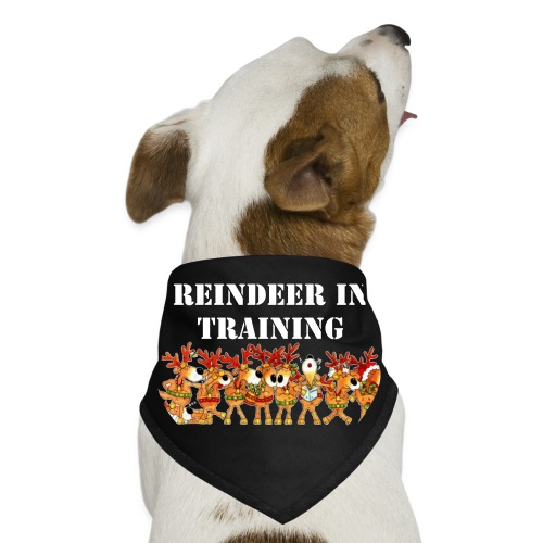 Reindeer in Training Dog Hanky - Dog Bandana